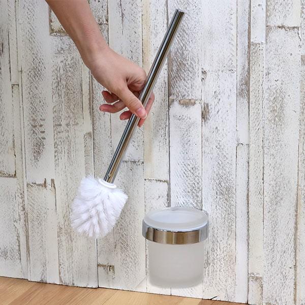 ポット付きトイレブラシ BISK NATURA トイレブラシ ビスク ( トイレ ブラシ トイレブラシスタンド ブラシ立て ポット付き トイレブラシ