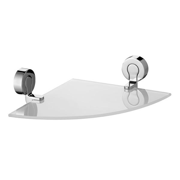 シェルフ BISK VENTURA コーナーシェルフ ビスク ガラスシェルフ ガラス製 洗面 洗面収納 収納 ( 角 飾り棚 ウォールシェルフ ディスプ