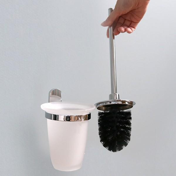 ポット付きトイレブラシ BISK VIGO トイレブラシ ポット セット ビスク ( トイレ ブラシ トイレブラシスタンド ブラシ立て トイレブラシ
