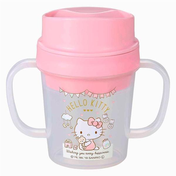 トレーニングカップ コボレス ハローキティ コップ ベビー キャラクター 日本製 ( カップ 赤ちゃん 両手 ベビーカップ トレーニングマグ