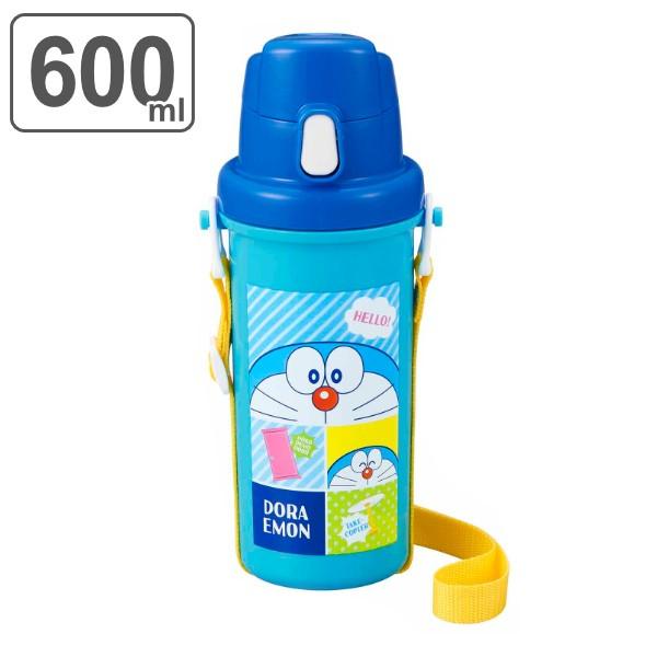 水筒 キッズ プラスチック 直飲み 抗菌 600ml ドラえもん ( プラワンタッチボトル すいとう 抗菌加工 AG 子供 直のみ ワンタッチ 子供用