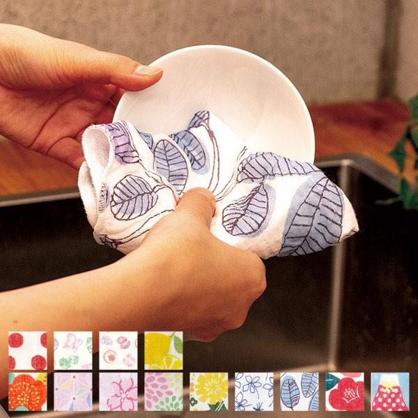ふきん キッチン用 蚊帳ふきん 5枚合わせ 日本製 ( 布巾 フキン 食器拭き 蚊帳生地 キッチンクロス キッチンタオル 台拭き テーブル拭き