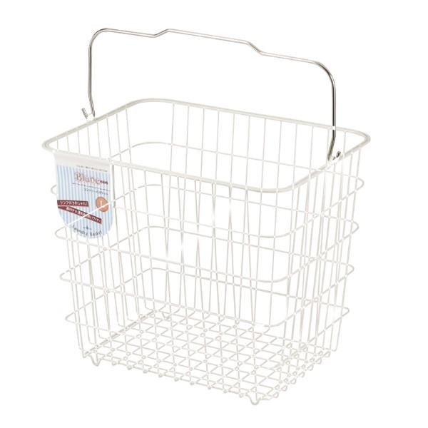 洗濯かご ブラン ランドリーバスケット L ワイヤーバスケット ( ワイヤー かご 洗濯カゴ 洗濯物入れ 角型 ランドリーボックス 脱衣かご
