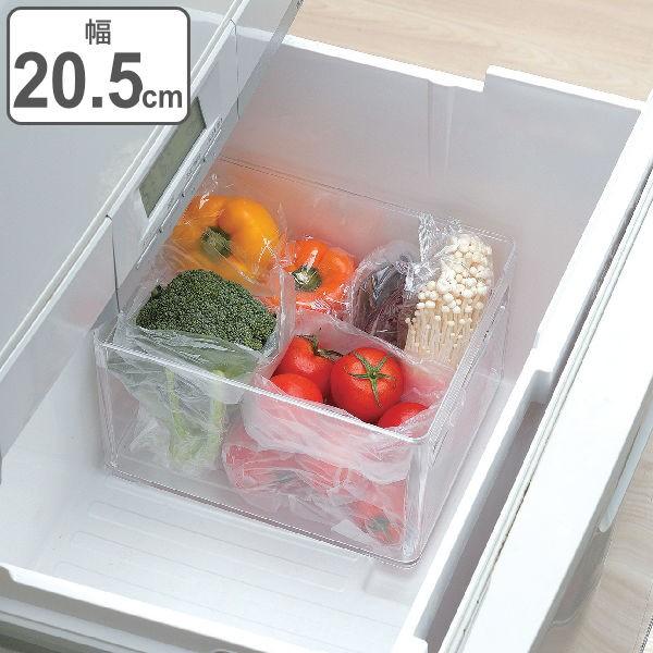 冷蔵庫 収納ケース 野菜室・冷凍室収納トレー SKIT ( 収納トレー 冷蔵庫収納 冷蔵庫トレー 収納ボックス 収納ストッカー ストッカー 深