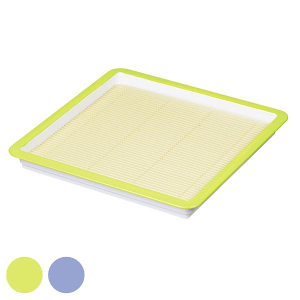 そば皿 すのこ すだれ プレート 角 彩創 プレート ( そば ざる プラスチック せいろ そばせいろ 日本製 蕎麦 ざる蕎麦 食器 皿 うつわ