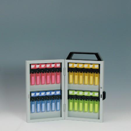 キーボックス 24個掛け ダイヤルロック錠 キーホルダー付 ( 送料無料 鍵 収納 保管 )