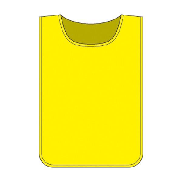 ゼッケン 布 ビブス 黄色 イエロー 無地 面ファスナー付き ( 安全用品 ベスト 安全ベスト カラー )