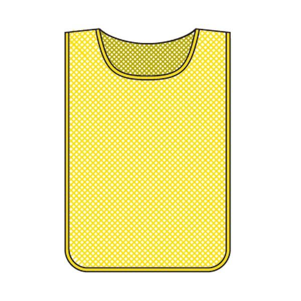 メッシュゼッケン ゼッケン メッシュ ビブス 黄色 イエロー 無地 面ファスナー付き ( 送料無料 安全用品 ベスト 安全ベスト カラー )