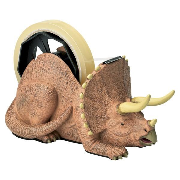 テープカッター 文房具 テープディスペンサー トリケラトプス 恐竜 ( 文具 セロハンテープカッター セロハンテープ プレゼント ダイナソ