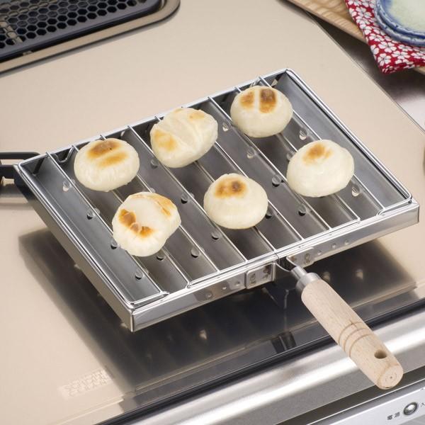 あぶり焼き ステンレス製 日本製 コンロ上 炙り焼き ( ガス火専用 ガスコンロ用 炙り料理 炙り調理 炉端焼き 干物 するめ スルメ トース