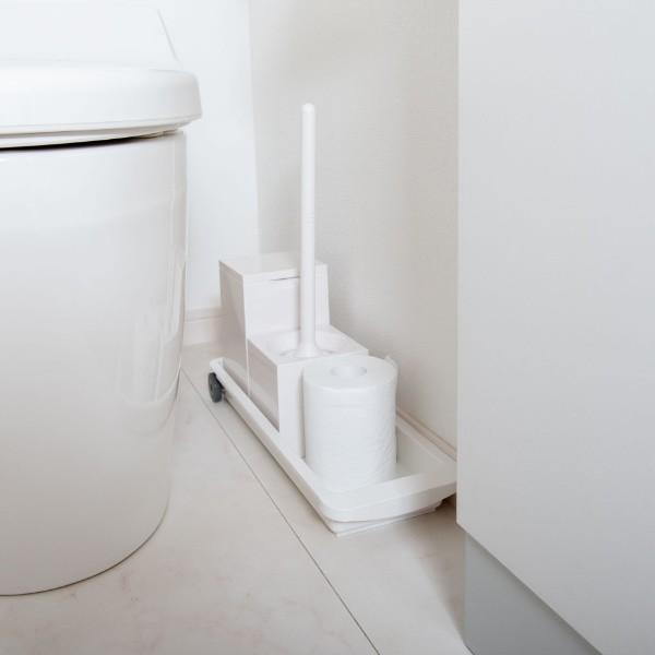 トイレ収納 スライドトレー スリムタイプ 隙間収納 トイレ 収納 洗濯機横 洗面所 ( すき間収納 トレー キャスター 幅15cm スリム 洗面下