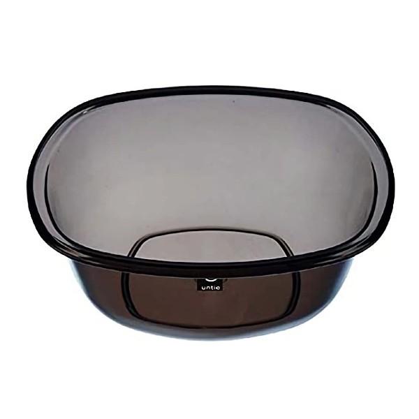 湯おけ アンティークリスタル 角 洗面器 桶 おけ ( 湯桶 風呂桶 透明 クリア 風呂用おけ ウォッシュボール せんめんき 四角 スクエア お