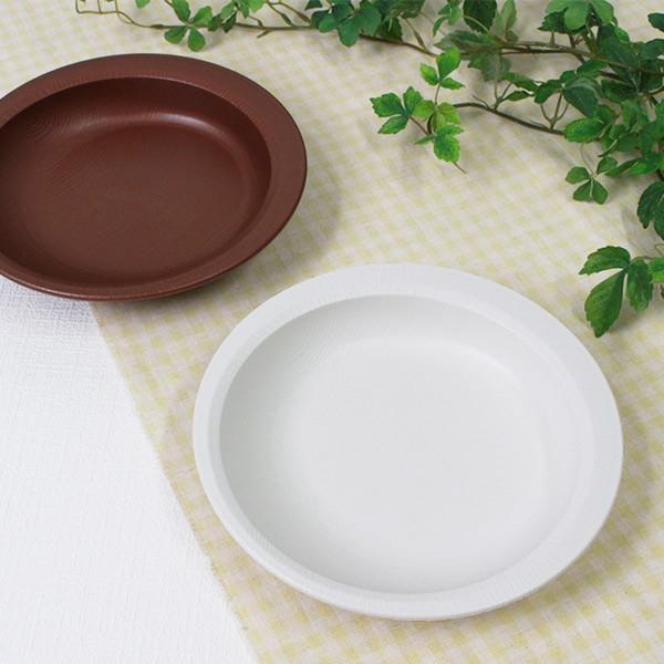 プレート 20cm すくいやすい 木製風 介護 食器 プラスチック製 日本製 ( 食洗機対応 電子レンジ対応 深皿 プラスチック 木目調 介護用