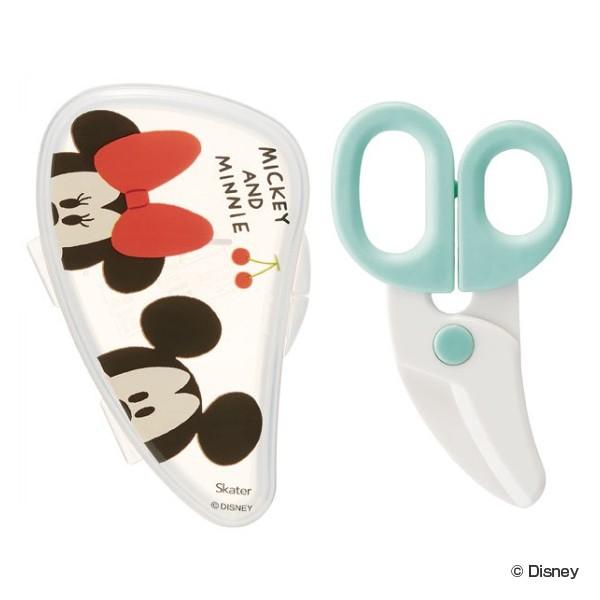 フードカッター 離乳食はさみ ミッキーマウス ミニーマウス ケース付 キャラクター ( ヌードルカッター ミッキー ミニー ディズニー 赤