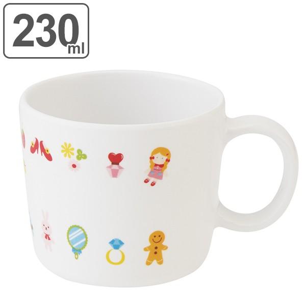 マグカップ 230ml コップ メラミン製 マイフェイバリッツ 食器 ( 食洗機対応 マグ カップ コップ 割れにくい 持ち手 子供 用 子ども 子