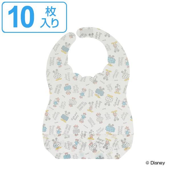 ベビーエプロン ミッキーマウス ミッキースケッチ 紙エプロン 10枚入 ディズニー キャラクター ( 使い捨てエプロン ベビー 赤ちゃん 不