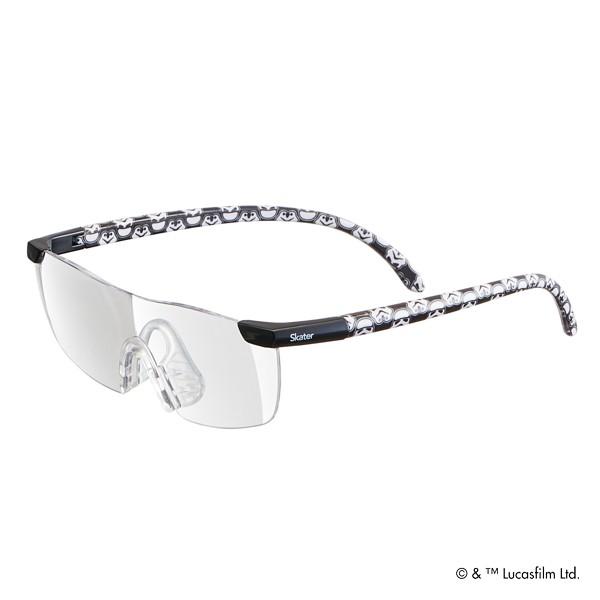 ルーペグラス スターウォーズ 拡大鏡 眼鏡 キャラクター ( ルーペ メガネの上から 1.6倍 読書 拡大 メガネ型 ストームトルーパー メガネ