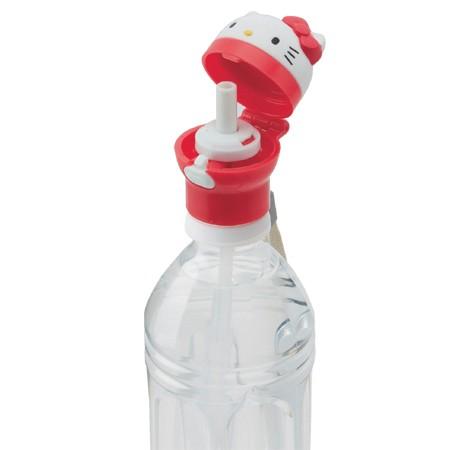 ペットボトルキャップ ストローキャップ 350ml&500ml用 ハローキティ 携帯用 ケース付き キャラクター ( 部品 パーツ ストローホ