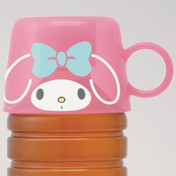 ペットボトルキャップ コップ マイメロディ キャラクター ( ペットボトル用 パーツ 部品 取付コップ 水筒になる 水筒 すいとう サン