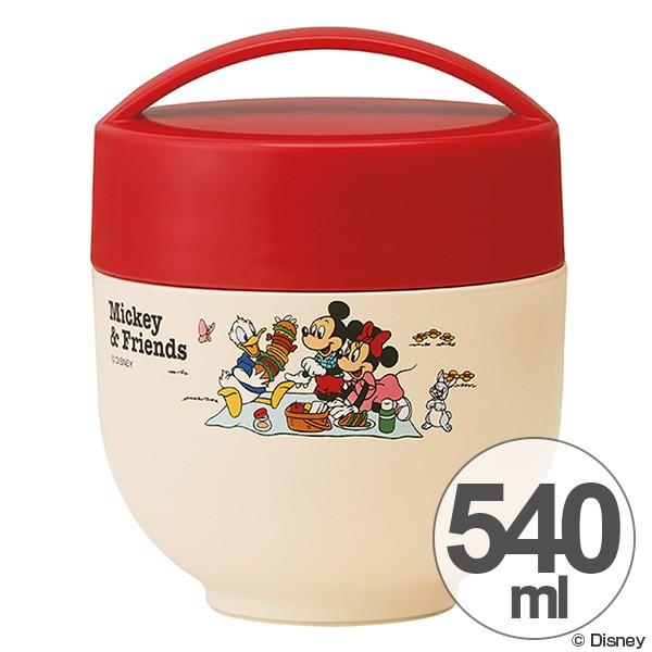 保温弁当箱 ランチボックス どんぶり型 コンパクトタイプ ミッキー Mickey Friends ピクニック 540ml ( 丼 麺 お弁当箱 保温 保冷 超軽