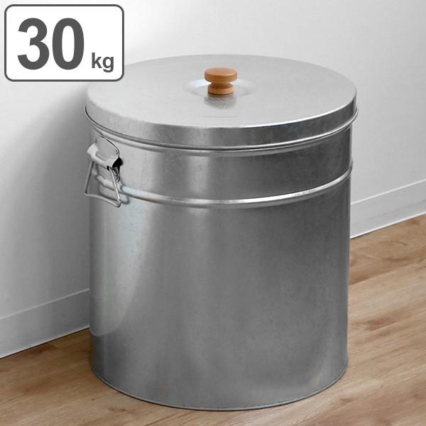 米びつ 30kg 丸型 トタン 袋のまま ( 米櫃 ライスボックス こめびつ 米ストッカー コメビツ お米入れ お米収納 お米保存 30キロ 袋ごと