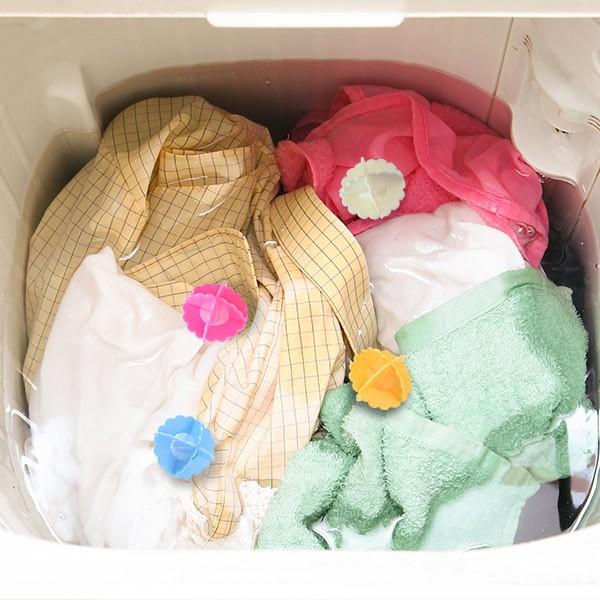 【最大1000円OFFクーポン配布中】 洗濯ボール 洗濯 洗濯用品 洗濯グッズ ( 洗濯機 ボール 絡み防止 4個入 入れるだけ 洗濯槽 洗濯物 か