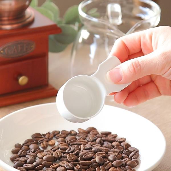 コーヒーメジャーカップ ショート ブラン blanc 計量スプーン ステンレス製 ホーロー 日本製 ( コーヒー スプーン 計量 10g コーヒーメ