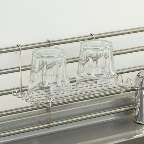 マルチラック 調味料ラック スポンジホルダー ステンレス製 棚小物シリーズ ( スパイスラック 調味料置き スパイスタンド スパイスホル