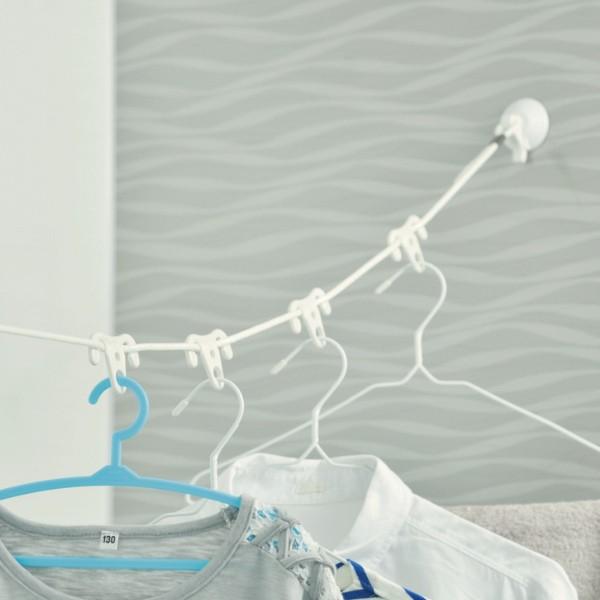 【最大1000円OFFクーポン配布中】 洗濯ロープ バスルーム洗濯ロープ 洗濯 ロープ 紐 ( 物干しロープ ランドリーロープ 浴室 2m 吸盤 ハ