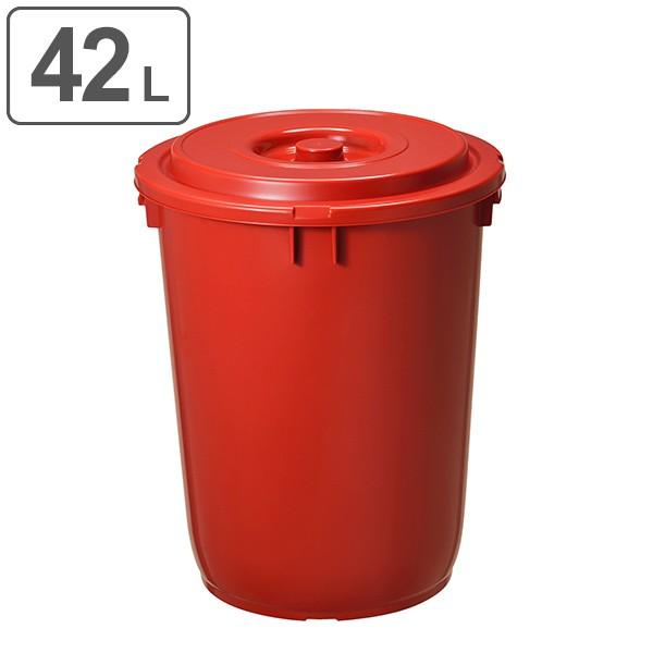 味噌樽 42L 42型 プラスチック製 フタ付き ( みそ樽 ミソ樽 味噌容器 味噌専用樽 みそ 味噌 ミソ ポリ樽 保存 容器 自家製 大容量 )