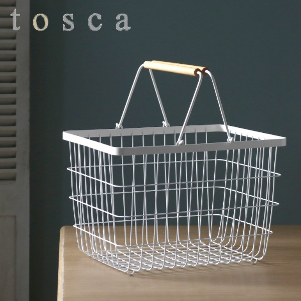 ランドリーバスケット トスカ tosca M ( 洗濯かご ワイヤー おしゃれ ランドリー 洗濯カゴ 洗濯物入れ 洗濯物 かご 脱衣かご 脱衣カ