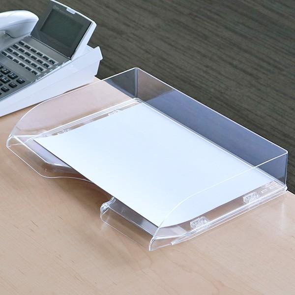 卓上トレー デラックスA4 横 ( 卓上収納 引き出し 書類ケース 書類 A4 トレー ファイルケース BOX 収納 プラスチック 収納ボックス 卓上