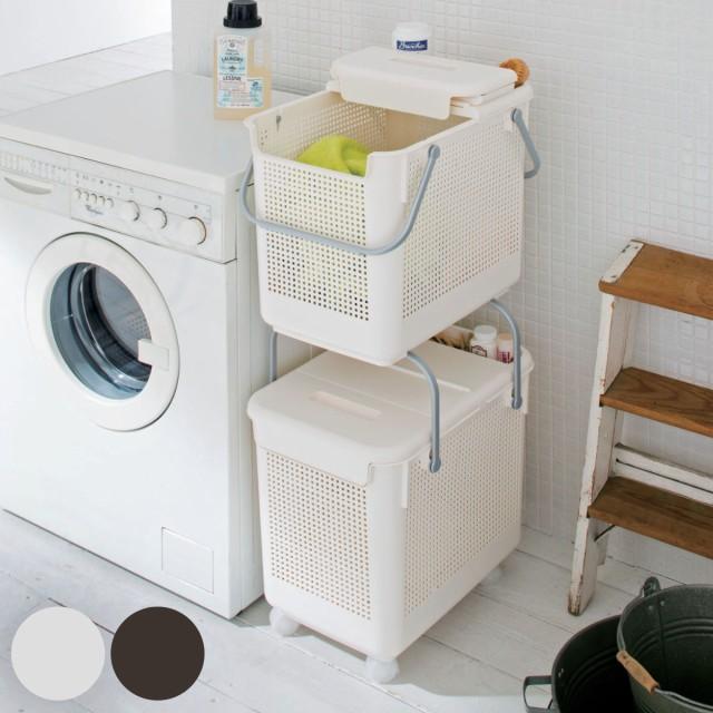 スカンジナビア 目かくしランドリーバスケット 2個セット SCB-13 ( ランドリーボックス 洗濯かご 脱衣かご ランドリーラック 洗濯物