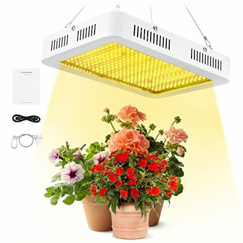 LED植物育成ライト 1000W 植物成長ライト 全フルスペクトル 暖色系 擬似太陽光 LED植物成長ランプ 家庭菜園 野菜工場 室内栽培用 日照不