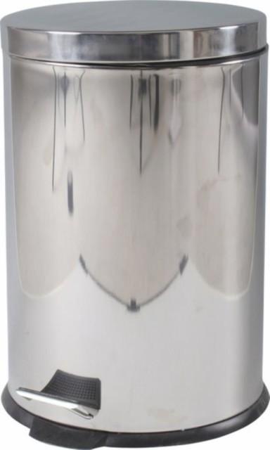 ステンレス ラウンドペダルペール 20L fj-78833 /ゴミ箱/分別/おしゃれ/ふた付き/屋外/キッチン/リビング/木/密閉/収納/北欧/インテ