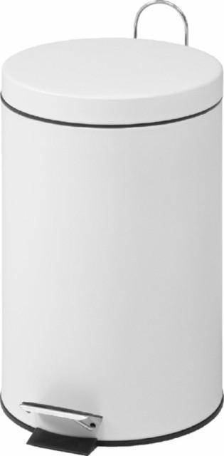 スチール ラウンドペダルペール 20L ホワイト fj-79723 /ゴミ箱/分別/おしゃれ/ふた付き/屋外/キッチン/リビング/木/密閉/収納/北欧/