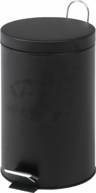 スチール ラウンドペダルペール 20L ブラック fj-79724 /ゴミ箱/分別/おしゃれ/ふた付き/屋外/キッチン/リビング/木/密閉/収納/北欧/