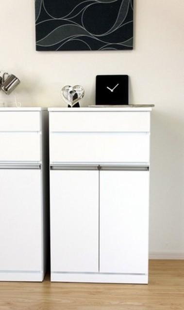 ダストボックス2分別 ホワイト PEARL DUST BOX 2D WH ise-3379501s1 /ゴミ箱/分別/おしゃれ/ふた付き/屋外/キッチン/リビング/木/密閉/