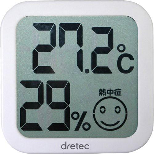 DRETEC デジタル温湿度計 ホワ...