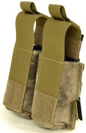 【FLYYE】MOLLE Double 9mm Pistol Magazine Pouch Ver.HP A-TACS マガジンポーチ サバイバル/ミリタリー FY-PH-P008-AT