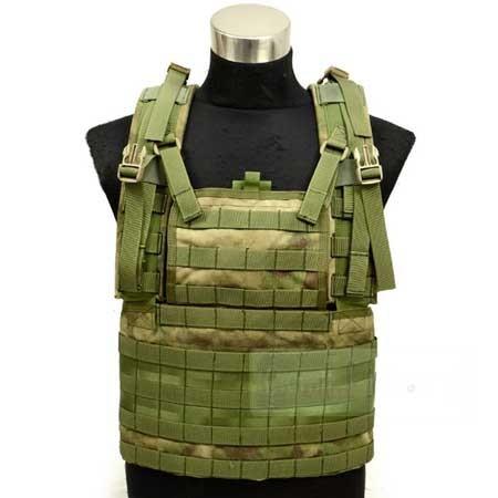 【FLYYE】Molle RRV Vest A-TACS FG (A-TACS森林ver) ベスト サバイバル/ミリタリー FY-VT-C004-FG