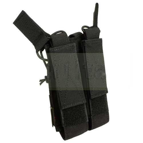 【FLYYE】OpenTop Double MP7 MagPouch BK サバイバル/ミリタリー FY-PH-M027-BK