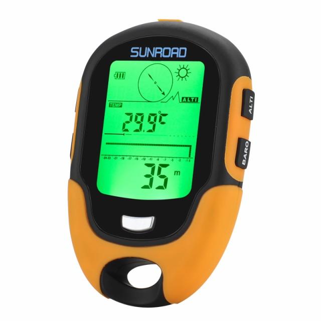 FR500多機能屋外高度計 - 気圧計コンパス温度計湿度計LEDトーチIPX4