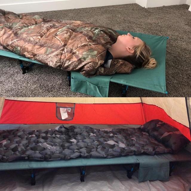 屋外の折り畳み式のシングルベッドのキャンプオフィスの自動運転の旅行のための携帯用ベッド