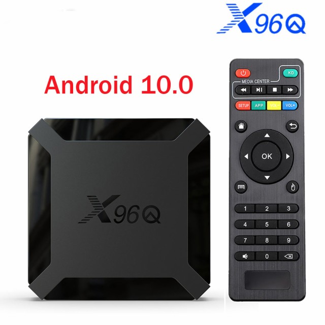 TV BOX Android 10.0 X96Q Allwinner H313 Quad Core 4K Smart Android TV 2.4G Wifi X96 Qセットトップボックス