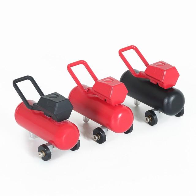1pc黒赤シミュレーションエアポンプエアコンプレッサー装飾部品シミュレーションガレージシリーズRCアクセサリー