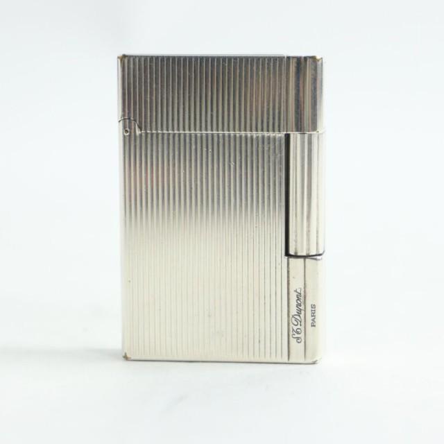 【ドンドン見直し】フランス製●S.T. DUPONT デュポン ギャッツビー ロゴ刻印入り ガスライター シルバー 箱付き 着火確認済み◎