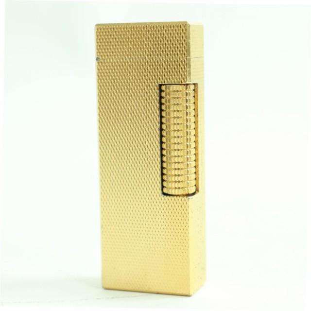 2 良品★Dunhill ダンヒル ローラータイプ ガスライター ゴールド スイス製 着火確認済み◎ オススメ♪