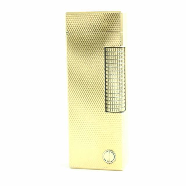良品★Dunhill ダンヒル ローラータイプ ロゴ入り ガスライター ゴールド スイス製 着火確認済み◎