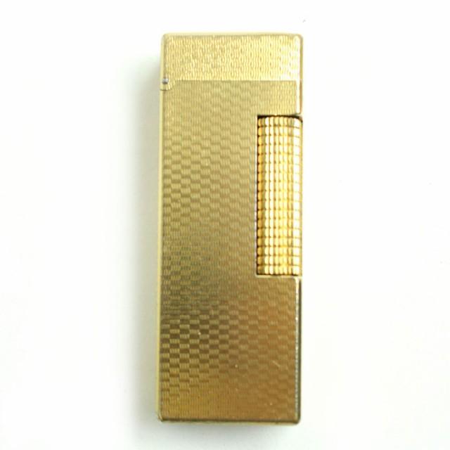2 良品▽Dunhill ダンヒル ローラータイプ ガスライター ゴールド スイス製 ケース付き 着火確認済み◎